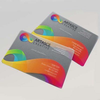 כרטיס ביקור מפלסטיק 8.5X5.5 סמ