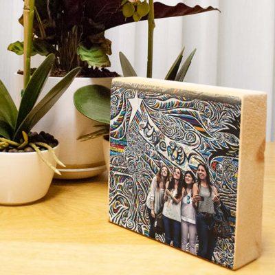 הדפסה על בלוק עץ טבעי 28x18
